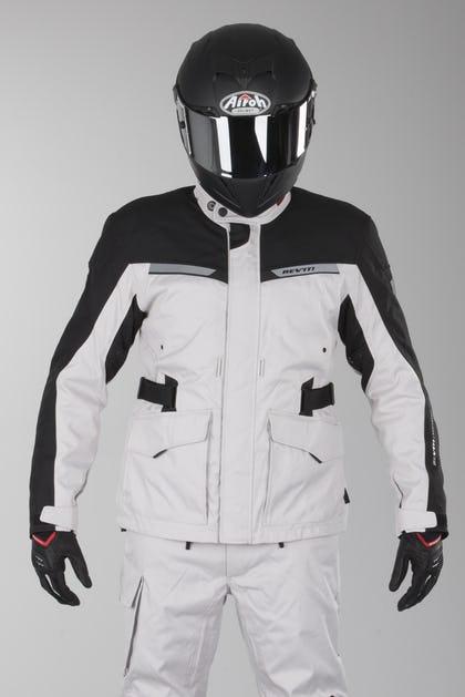 34bba1ac MC jakke Revit Enterprise Sølv-Sort - Nu 10% Rabat - XLmoto.dk