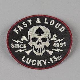 Naszywka Haftowana Lucky 13 Fast & Loud 7,62 cm Czarna