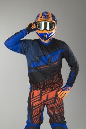 Cross Mikina JT Racing Prime Modrá-Oranžová-Černá
