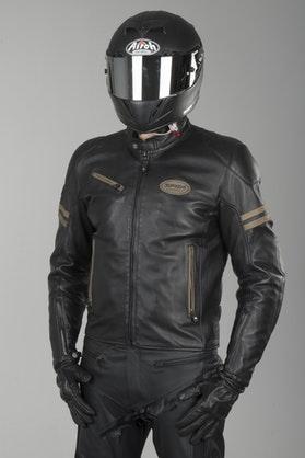 Spidi Ace Leather Jacket Black-Ice