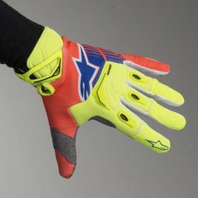 Motokrosové Rukavice Alpinestars Techstar Neonová Žlutá-Neonová Oranžová-Modrá
