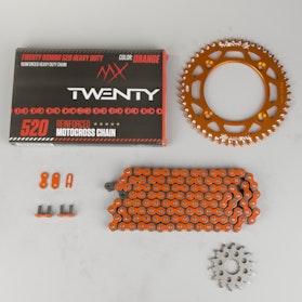 MX Twenty Delta 520 X-Ring Chain & Sprocket Kit Orange