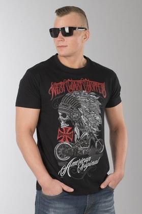 T-Shirt West Coast Choppers Chief Solid Czarny