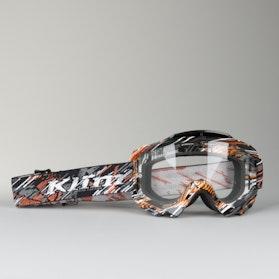 Klim Radius Moto Scarred Ash Motocross Goggles