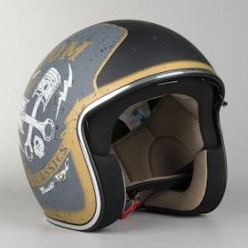 IXS HX 77 Custom Matte Silver- Black Helmet