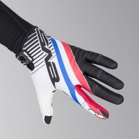 Rękawice cross EVS Pro GT Biały-Niebieski-Czerwony