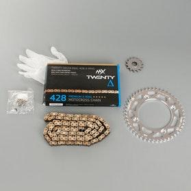 MX Twenty Delta 428 Chain and Sprocket Kit