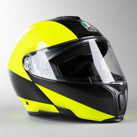 Helma AGV Sportmodular Tricolore Matně Karbonovo-Neonově Žlutá