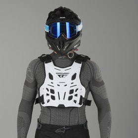 FLY Revel Race Chest Protection - White