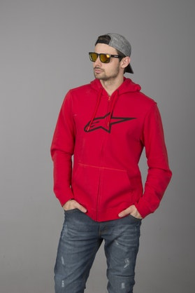 Bluza z Kapturem Alpinestars Ageless Fleece Czerwona