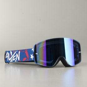 "Raven Edge ""Liberty"" MX Goggles Blue Mirror"