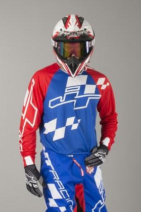 Bluza Cross JT Racing Hyperlite Checker Czerwono-Biało-Niebieska