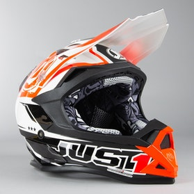 Just1 J32 Pro Rave MX Helmet Black-Orange