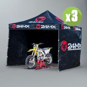 Racetelt inkl. 3 Vægge 24MX 3X3M Easy-UP 3-Pak