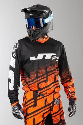 Bluza Cross JT Racing Prime Echo Czarno-Pomarańczowa