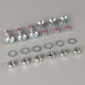 Twenty 6-Pack Gear Bolts Silver