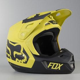 Kask Cross Fox V2 Preme Ciemny Żółty MX 18