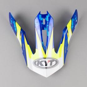 Kšilt Helmy KYT Strike Eagle Reef Modro-Neonově Žlutý