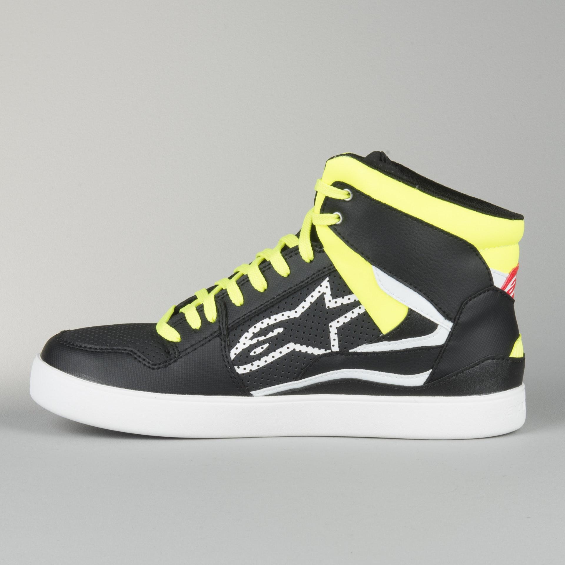 amarillo y rojo Zapatos de color negro Alpinestars Stadium