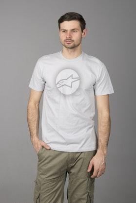 T-Shirt Alpinestars Eclipse Srebrny