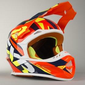 Kask Cross FXR Blade Throttle Pomarańczowo/Niebiesko/Hi-Vis
