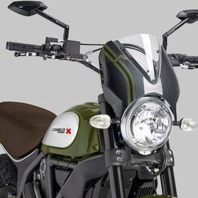 Owiewka Puig Retrovision Ducati Karbon-Przezroczysta