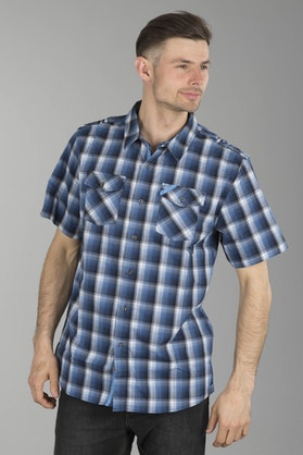 Klim Downtime Short Sleeve Shirt - Blue