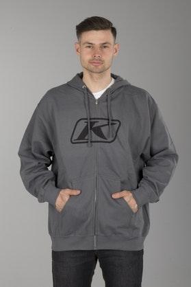 Klim Icon Zip Hoodie Grey
