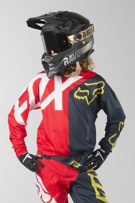 Motokrosový Dres Dětský Fox 360 Preme Námořně Modro-Červený MX 18