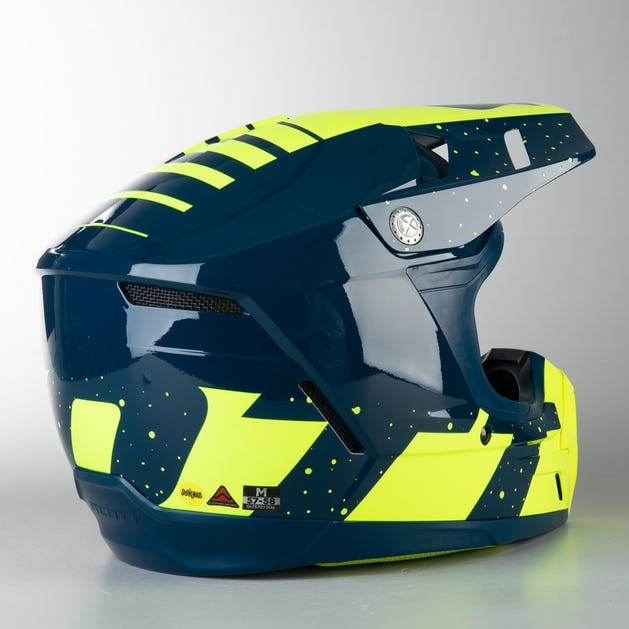 Scott 350 EVO Plus Team ECE MX Helmet Blue/Yellow