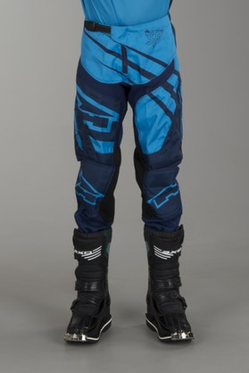 AXO SR Youth MX Trousers Blue & Aqua