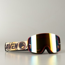 "Raven Edge ""Sparta"" MX Goggles Red/Gold Mirror"