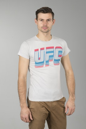 T-Shirt UFC Worded Szary