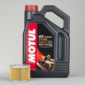 Olej 4T W pełni syntetyczny 4L+filter oleju Motul 7100 5W40