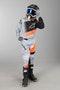 Komplet Cross Alpinestars Racer Superman Dziecięcy Szaro-Fluorescencyjno Pomarańczowy