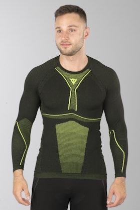 Funkční Tričko  s Dlouhým Rukávem Dainese D-Core Dry LS Černo-Žluté