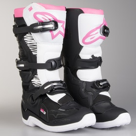 Alpinestars Ladies Tech 3 Boots Black-White-Pink
