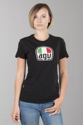 T-Shirt AGV Damski Czarny