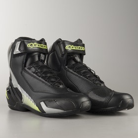Alpinestars SP-1 V2 MC-Shoes - Black-Silver-Flourescent Yellow