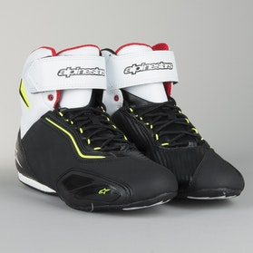 Alpinestars Faster 2 Racing Shoes Black-Fluorescent Yellow-Red