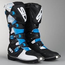 Sidi X-Treme Motocross Boots Light Blue-Black