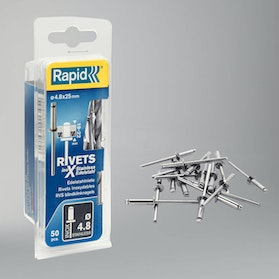 Rapid Stainless Rivets 50 Pieces Ø4,8 x 25mm