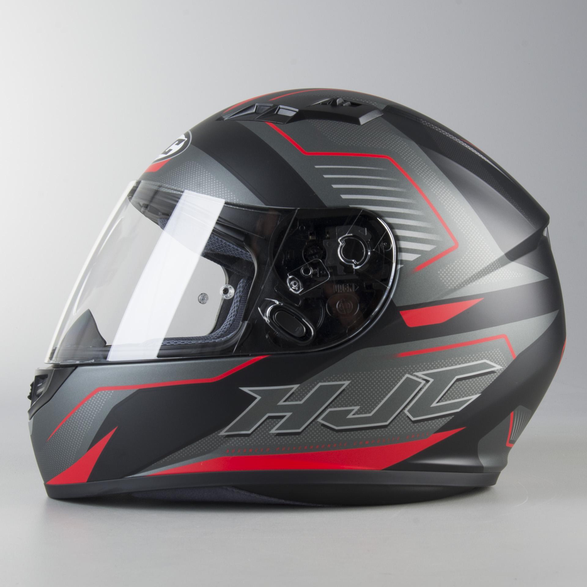 HJC Red CS-15 Trion Motorcycle Helmet