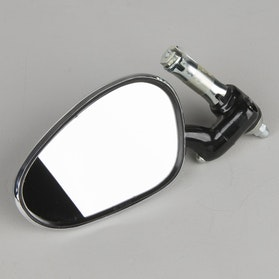 Busch & Müller Oval handle bar End Rear view Mirror Black
