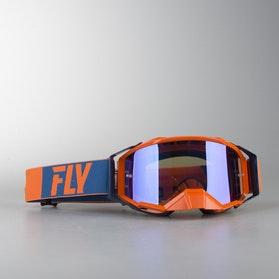 Gogle Cross FLY Zone Pro Pomarańczowo-Niebieskie