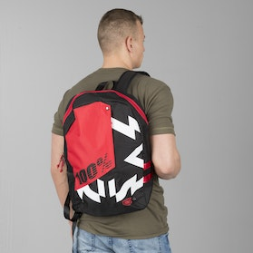 100% Porter Backpack Jeronimo Black-Red