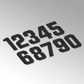 Pack of 100 numbers 9cm Black PVC