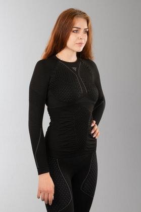Dainese D-Core Thermo LS Women's Tech T-Shirt Black-Grey