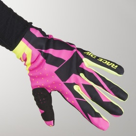 Rękawice Cross FXR Slip On Lite Różowo-Czarno-HiVis