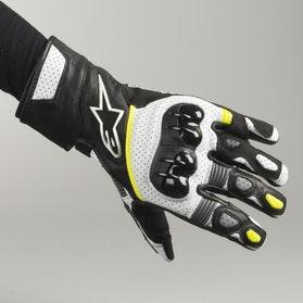 Rękawice Alpinestars SP-2 V2 Czarno-Biało Fluorescencyjno Żółte